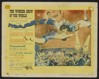 "Trapeze (United Artists, 1956). Title Lobby Card and Lobby Cards (6) (11"" X 14""). Drama.... (Total: 7 Items)"