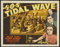 "Movie Posters:Adventure, S.O.S. Tidal Wave (Republic, 1939). Title Lobby Card (11"" X 14"").Adventure...."