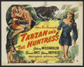"Movie Posters:Adventure, Tarzan and the Huntress (RKO, 1947). Title Lobby Card and LobbyCard (11"" X 14""). Adventure.... (Total: 2 Items)"