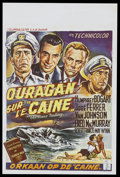 "Movie Posters:War, The Caine Mutiny (Columbia, 1954). Belgian (14.5"" X 21.5""). War...."