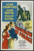 """Movie Posters:War, Reunion in France (MGM, 1942). One Sheet (27"""" X 41"""") Style D.War...."""