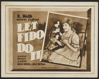 """Let Fido Do It (Universal, 1919). Title Lobby Card and Lobby Card (11"""" X 14""""). Comedy.... (Total: 2 Items)"""