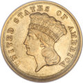 Three Dollar Gold Pieces, 1854-D $3 AU58 NGC....
