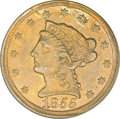 Liberty Quarter Eagles, 1855-D $2 1/2 AU55 PCGS....
