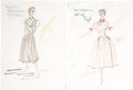 Movie/TV Memorabilia:Original Art, Sophia Loren That Kind of Woman Costume Design Sketches....(Total: 2 )
