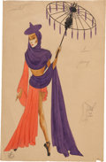 Movie/TV Memorabilia:Original Art, Irene Costume Design Sketch from 1946 Zeigfeld FolliesProduction....
