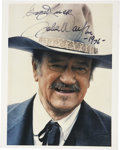 Movie/TV Memorabilia:Autographs and Signed Items, John Wayne Autographed Photo....