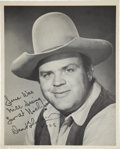 Movie/TV Memorabilia:Autographs and Signed Items, Dan Blocker Signed Photo....