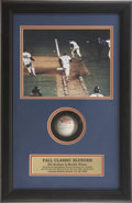 Autographs:Others, Bill Buckner and Mookie Wilson Dual-Signed Baseball Display....