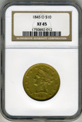 Liberty Eagles, 1845-O $10 XF45 NGC....