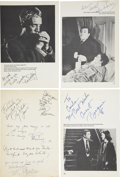 Movie/TV Memorabilia:Autographs and Signed Items, Assorted Actor Autographs to Emile LaVigne.... (Total: 4 Items)