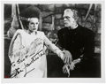 Movie/TV Memorabilia:Autographs and Signed Items, Elsa Lanchester Signed Bride of Frankenstein Photo....