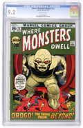 Bronze Age (1970-1979):Horror, Where Monsters Dwell #12 (Marvel, 1971) CGC NM- 9.2 Off-whitepages....