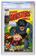 Bronze Age (1970-1979):Horror, Where Monsters Dwell #9 (Marvel, 1971) CGC NM- 9.2 White pages....
