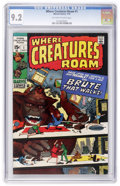 Bronze Age (1970-1979):Horror, Where Creatures Roam #1 (Marvel, 1970) CGC NM- 9.2 Off-white towhite pages....