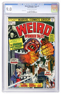 Bronze Age (1970-1979):Horror, Weird Wonder Tales #1 (Marvel, 1973) CGC VF/NM 9.0 Off-white towhite pages....