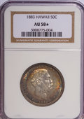 Coins of Hawaii, 1883 50C Hawaii Half Dollar AU58 ★ NGC. NGC Census: (43/133). PCGSPopulation (39/196). Mi...