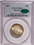 Coins of Hawaii: , 1883 25C Hawaii Quarter MS64 PCGS. CAC. PCGS Population (300/246).NGC Census: (174/195). Mintage: 500,000. (#10987)...