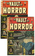 Golden Age (1938-1955):Horror, Vault of Horror #21 and 25 Group (EC, 1951-52) Condition: AverageFN-.... (Total: 2 Items)