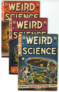 Golden Age (1938-1955):Horror, Weird Science #16, 19, and 21 Group (EC, 1952-53) Condition:Average VG+.... (Total: 3 Items)