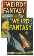 Golden Age (1938-1955):Science Fiction, Weird Fantasy #9 and 18 Group (EC, 1951-53) Condition: AverageVG/FN.... (Total: 2 Items)