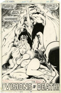 Original Comic Art:Splash Pages, John Byrne and Terry Austin X-Men #114 Sauron Splash Page 31Original Art (Marvel, 1978)....