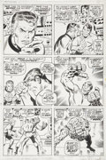 Original Comic Art:Panel Pages, John Buscema and Joe Sinnott Fantastic Four #107, page 5Original Art (Marvel, 1971)....