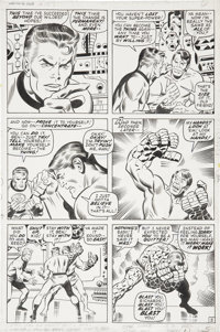 John Buscema and Joe Sinnott Fantastic Four #107, page 5 Original Art (Marvel, 1971)