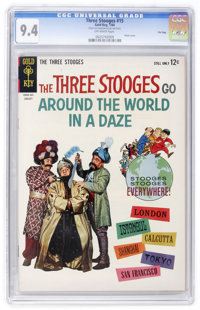 Three Stooges #15 File Copy (Gold Key, 1964) CGC NM 9.4 Off-white pages