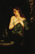 Fine Art - Painting, European:Antique  (Pre 1900), JEAN JOSEPH BENJAMIN CONSTANT (French, 1845-1902).Odalisque. Oil on canvas. 49-1/2 x 32-1/2 inches (125.7 x82.6 cm). S...