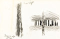 Fine Art - Work on Paper:Drawing, CHARLES EPHRAIM BURCHFIELD (American, 1893-1967). SnowLight, 1936. Conté crayon. 11-1/4 x 17 inches (28.6 x 43.2 cm).T...