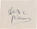 Movie/TV Memorabilia:Autographs and Signed Items, George Reeves Autograph....