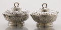 Silver Holloware, American:Entrée Dishes, A PAIR OF AMERICAN SILVER ENTRÉE SERVING DISHES WITH COVERS.Tiffany & Co., New York, New York, circa 1875. Mark... (Total:2 Items)