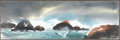 Fine Art - Painting, American:Contemporary   (1950 to present)  , CLINT STOKES (American, 20th Century). Seascape withSeagulls. Watercolor on paper. 10 x 29 inches (25.4 x 73.7 cm).Sig...