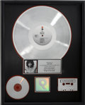 Music Memorabilia:Awards, The Best of the Doors RIAA Platinum Album Award....