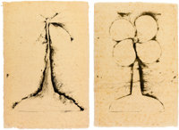 JIM DINE (American, b. 1935) Lithographs of the Sculpture: The Plant Becomes a Fan (W.C. 171-5), 1974