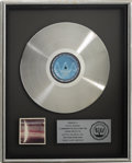 Music Memorabilia:Awards, Beatles Related - Steve Howard's Wings Over America RIAA Platinum Album Award....