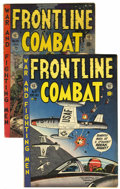 Golden Age (1938-1955):War, Frontline Combat #8 and 15 Group (EC, 1952-54) Condition: AverageVG+.... (Total: 2 Items)