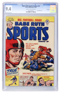 Golden Age (1938-1955):Non-Fiction, Babe Ruth Sports Comics #10 File Copy (Harvey, 1950) CGC NM 9.4Cream to off-white pages....