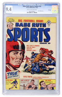 Babe Ruth Sports Comics #10 File Copy (Harvey, 1950) CGC NM 9.4 Cream to off-white pages