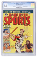 Golden Age (1938-1955):Non-Fiction, Babe Ruth Sports Comics #9 File Copy (Harvey, 1950) CGC VF/NM 9.0Cream to off-white pages....