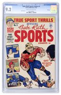 Golden Age (1938-1955):Non-Fiction, Babe Ruth Sports Comics #5 File Copy (Harvey, 1949) CGC NM- 9.2Cream to off-white pages....