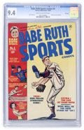 Golden Age (1938-1955):Non-Fiction, Babe Ruth Sports Comics #4 File Copy (Harvey, 1949) CGC NM 9.4Cream to off-white pages....