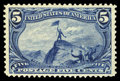 Stamps, #288, 1898, 5c Dull Blue, XF 90 PSE. (Original Gum - Never Hinged)....