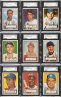 Baseball Cards:Sets, 1952 Topps Baseball Partial Set (313/407) - Includes 54 HighNumbers....