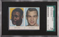 Boxing Cards:General, 1962 Rekord Journal Liston/Charnley Uncut Panel SGC 50 VG/EX 4....