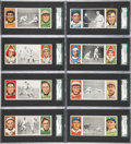 Baseball Cards:Lots, 1912 T202 Hassan Triple Folders SGC 60 EX 5-Graded Group of(15)....