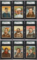"Non-Sport Cards:Sets, 1910 T118 Hassan ""World's Greatest Explorers"" Complete Set (25)...."