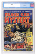 Golden Age (1938-1955):Horror, Black Cat Mystery #34 (Harvey, 1952) CGC VF- 7.5 Light tan tooff-white pages....