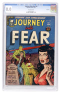 Golden Age (1938-1955):Horror, Journey Into Fear #2 Bethlehem pedigree (Superior, 1951) CGC VF 8.0Off-white pages....
